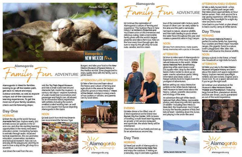 Family Fun Itinerary