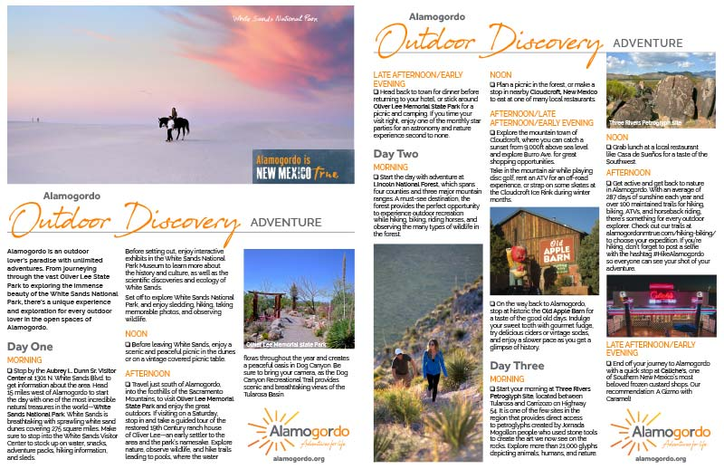 Outdoor Discovery Itinerary